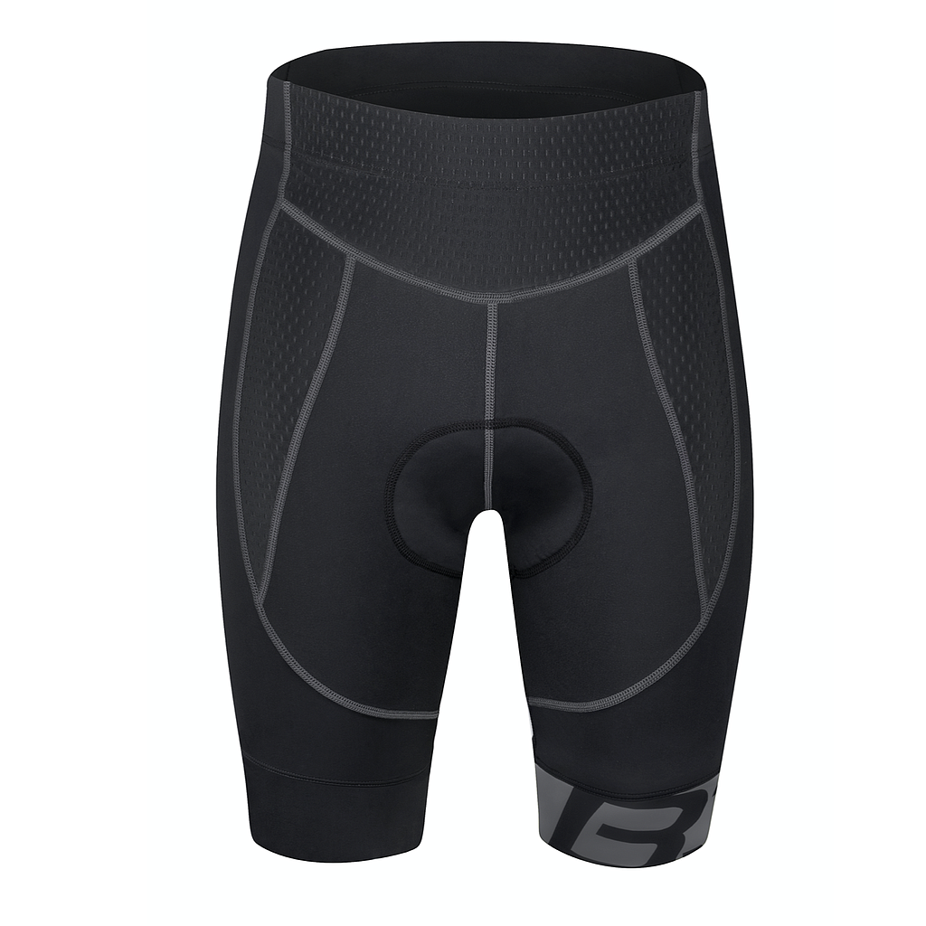 **FORCE B30 WAIST SHORTS  WITH PAD,BLACK-GREY M