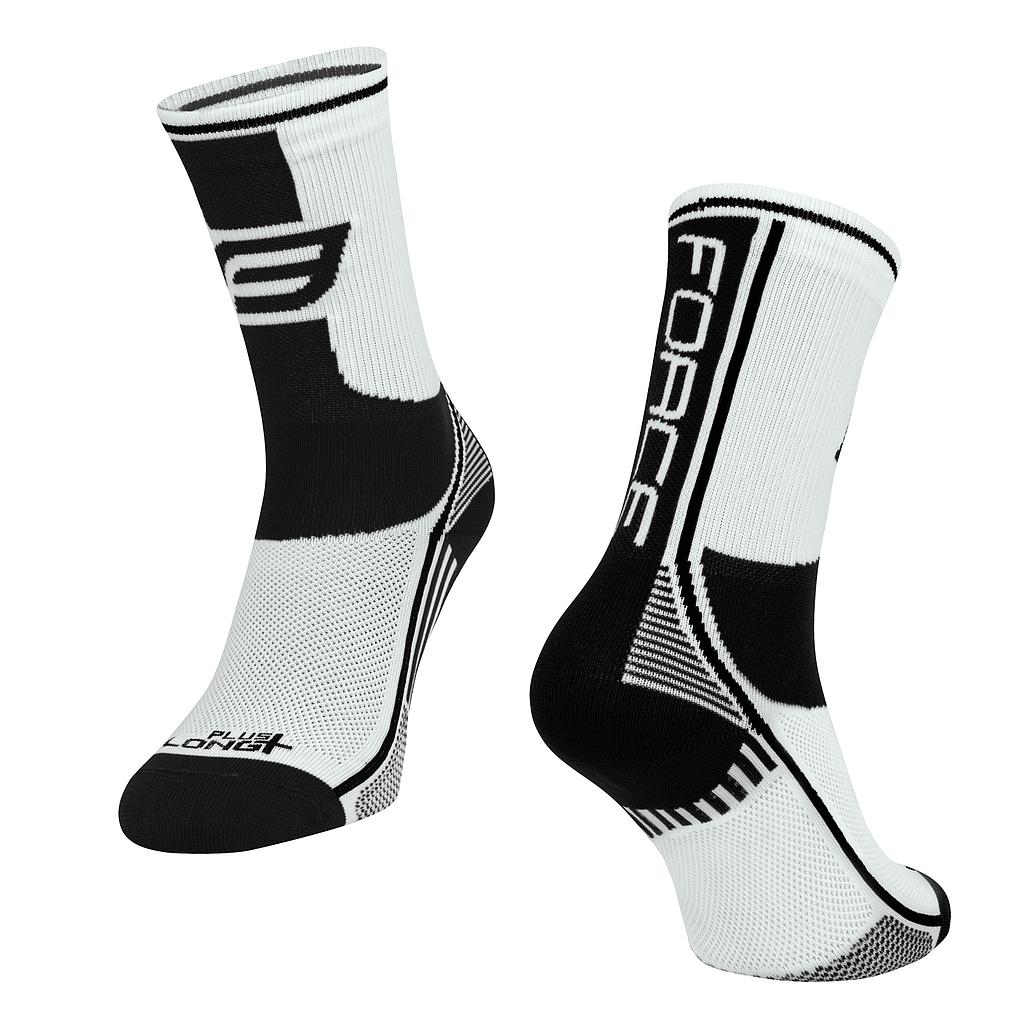 **FORCE LONG PLUS SOCKS BLACK/WHITE S/M