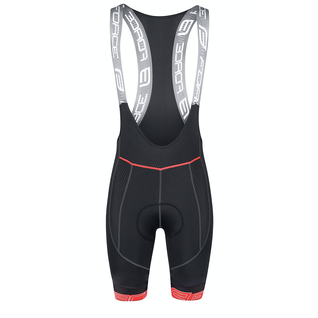 FORCE F FAME BIBSHORTS WITH PAD, BLACK-RED XL