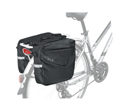 KELLYS ADVENTURE 20 DOUBLE PANNIER BAG BLACK