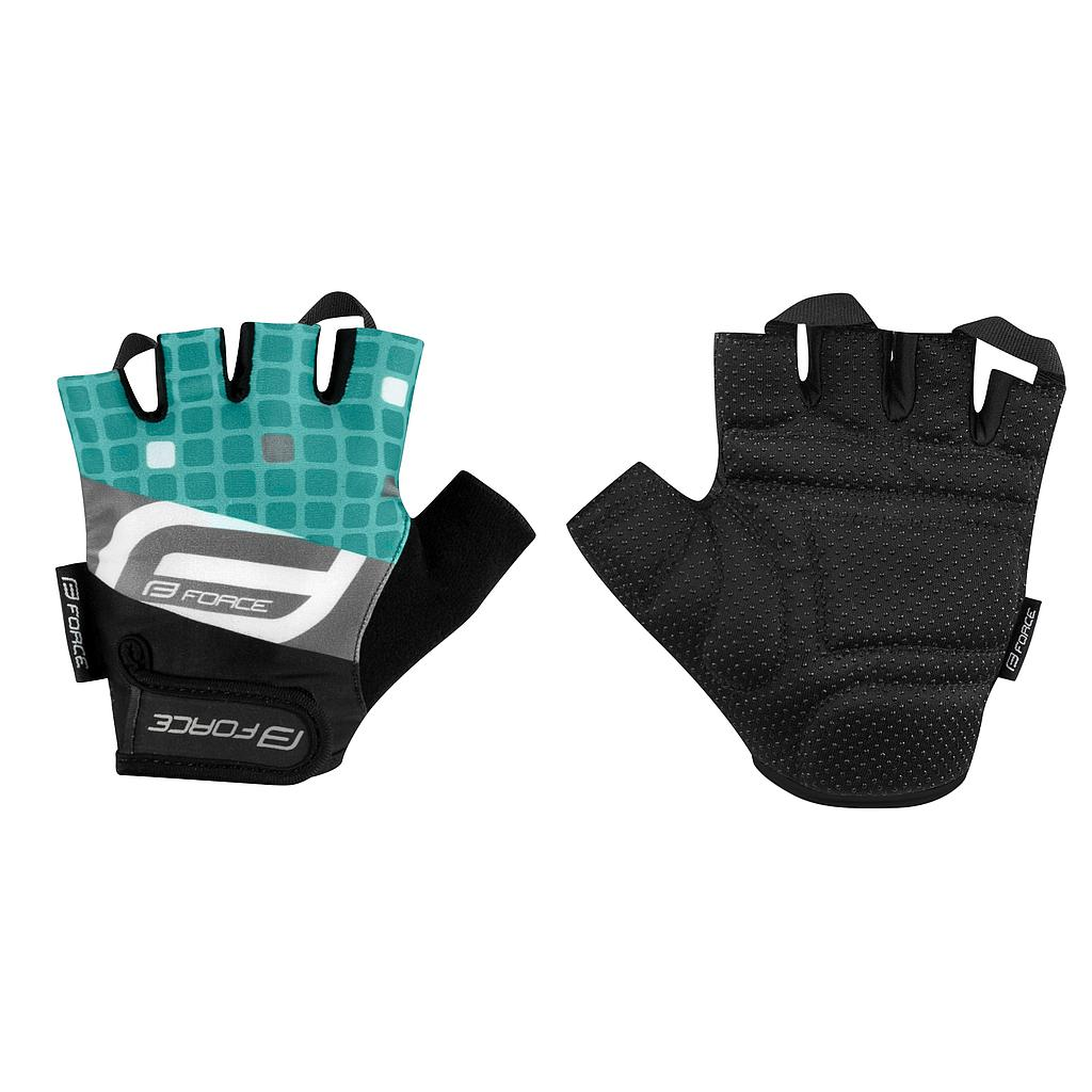 FORCE SQUARE MITTS TURQUOISE MEDIUM