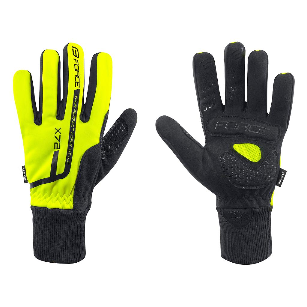 **FORCE X72 WINTER GLOVES FLUO X/LARGE
