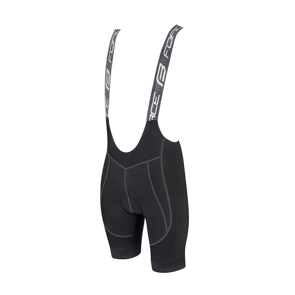 ** FORCE FAME BIBSHORTS  WITH PAD, BLACK S